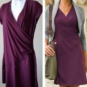 ATHLETA Purple Wrap Dress MP